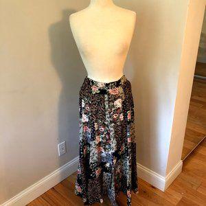 *2/15* Vintage Floral Patchwork Long Skirt Size M